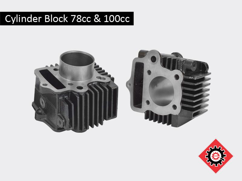 Cylinder Block 78cc & 100cc